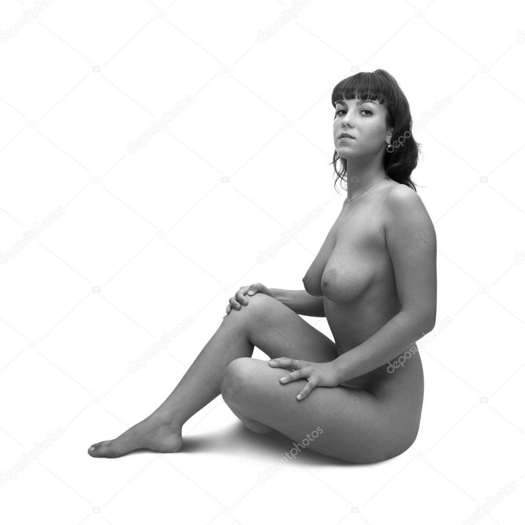 Сидит голая женщина 22 фотография