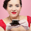 Stock Photo: Girl with tea cup