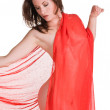Stock Photo: Red drape