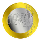 69 Euro Coin — Stock Photo