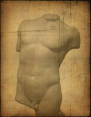 Background image with torso — Stock Photo
