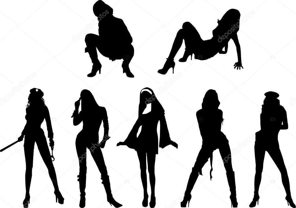 illustration Sexy girl silhouette vector