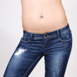 Topless girl in jeans. — Stock Photo #3263581