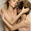 Foto Stock: Cuddle